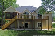 Craftsman Style House Plan - 4 Beds 3.5 Baths 2939 Sq/Ft Plan #20-1056 Exterior - Rear Elevation