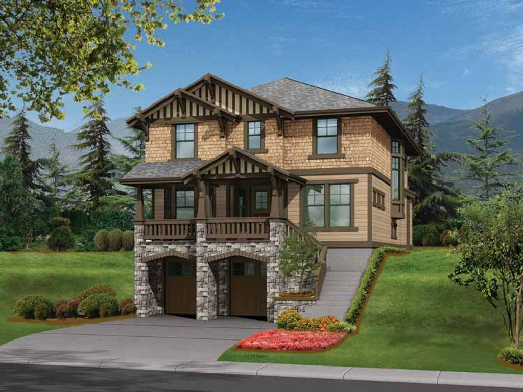 Craftsman style house plan 3 beds 2 5 baths 2795 sq ft for Www homeplans com