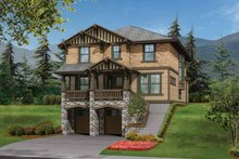 Dream House Plan - Craftsman Exterior - Front Elevation Plan #132-242