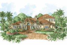 Home Plan - Mediterranean Exterior - Front Elevation Plan #1017-63