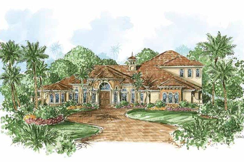 Dream House Plan - Mediterranean Exterior - Front Elevation Plan #1017-63