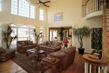 Dream House Plan - Traditional Interior - Family Room Plan #929-329