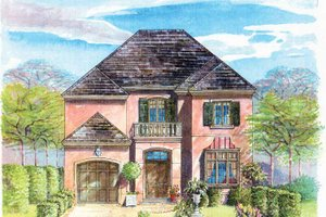 Mediterranean Exterior - Front Elevation Plan #301-138