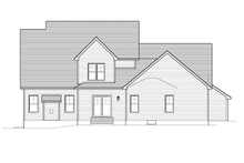 Architectural House Design - Colonial Exterior - Rear Elevation Plan #1010-52