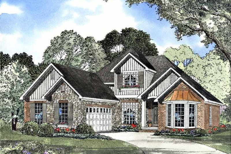 Country Exterior - Front Elevation Plan #17-3067 - Houseplans.com