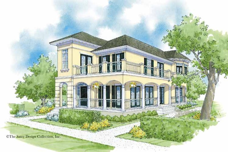 Southern Exterior - Front Elevation Plan #930-360 - Houseplans.com
