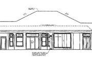 Mediterranean Style House Plan - 3 Beds 2.5 Baths 3091 Sq/Ft Plan #27-106 Exterior - Rear Elevation