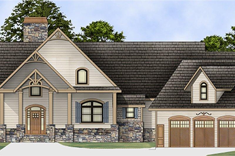 Architectural House Design - Craftsman Exterior - Front Elevation Plan #119-424