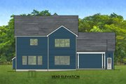 Farmhouse Style House Plan - 4 Beds 2.5 Baths 2724 Sq/Ft Plan #1010-227 Exterior - Rear Elevation