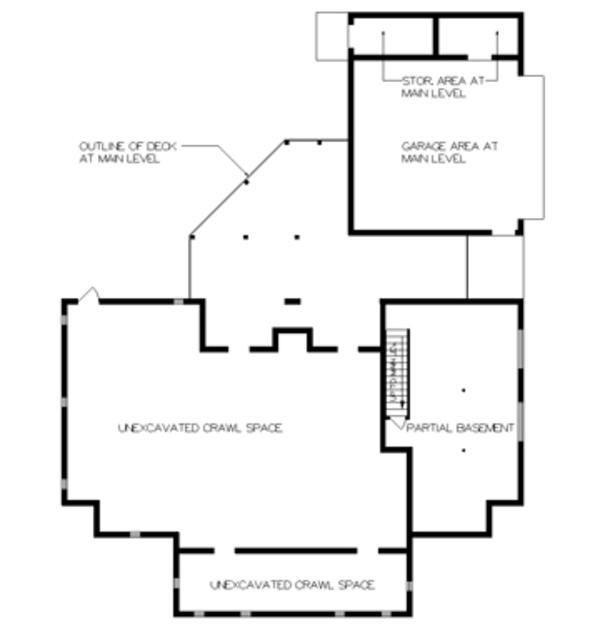 Country Floor Plan - Lower Floor Plan Plan #45-468