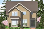European Style House Plan - 3 Beds 2.5 Baths 2533 Sq/Ft Plan #48-836 Exterior - Rear Elevation