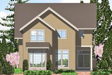 Dream House Plan - European Exterior - Rear Elevation Plan #48-836