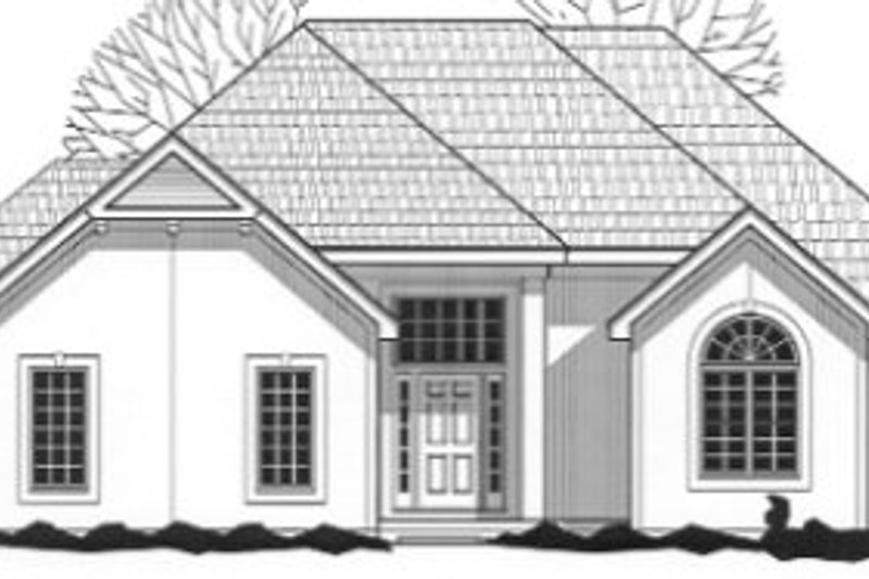 Traditional Style House Plan - 4 Beds 3 Baths 2802 Sq/Ft Plan #67-793 Exterior - Front Elevation