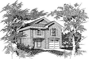 European Exterior - Front Elevation Plan #329-195