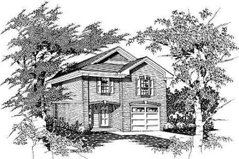 European Style House Plan - 4 Beds 3 Baths 1600 Sq/Ft Plan #329-195 Exterior - Front Elevation