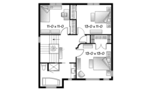 Contemporary Floor Plan - Upper Floor Plan Plan #23-2583