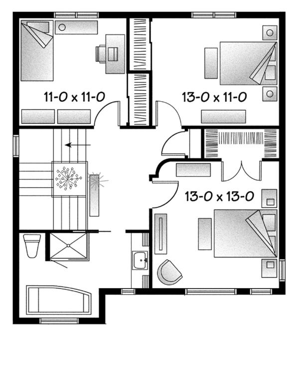 Architectural House Design - Contemporary Floor Plan - Upper Floor Plan #23-2583