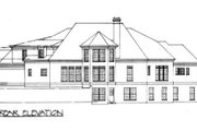 Classical Style House Plan - 4 Beds 3.5 Baths 3338 Sq/Ft Plan #119-111 Exterior - Rear Elevation