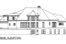 Classical Exterior - Rear Elevation Plan #119-111
