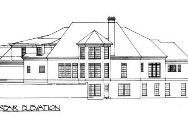 Classical Exterior - Rear Elevation Plan #119-111 - Houseplans.com