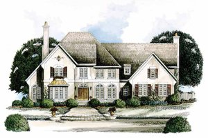 European Exterior - Front Elevation Plan #429-134
