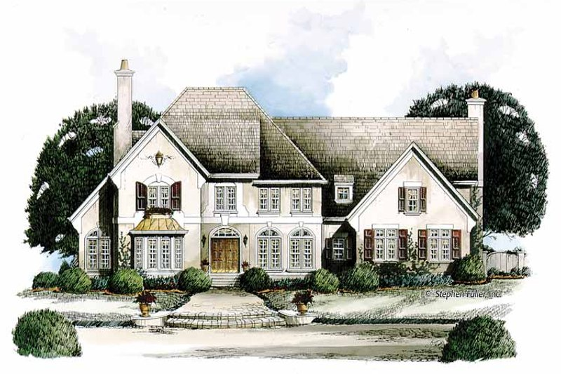 Home Plan - European Exterior - Front Elevation Plan #429-134