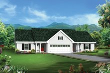 House Plan Design - Colonial Exterior - Front Elevation Plan #57-636