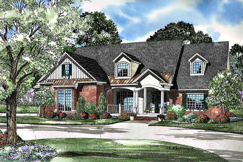 Country Exterior - Front Elevation Plan #17-3097