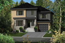 Dream House Plan - Contemporary Exterior - Front Elevation Plan #25-4289