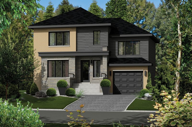 Home Plan - Contemporary Exterior - Front Elevation Plan #25-4289