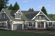 Craftsman Style House Plan - 4 Beds 3 Baths 2341 Sq/Ft Plan #51-573 Exterior - Front Elevation
