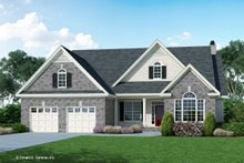 Architectural House Design - Traditional Exterior - Front Elevation Plan #929-882