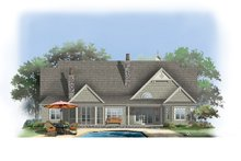 Dream House Plan - Craftsman Exterior - Rear Elevation Plan #929-905