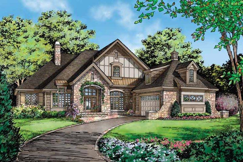 Dream House Plan - Cottage Exterior - Front Elevation Plan #929-854