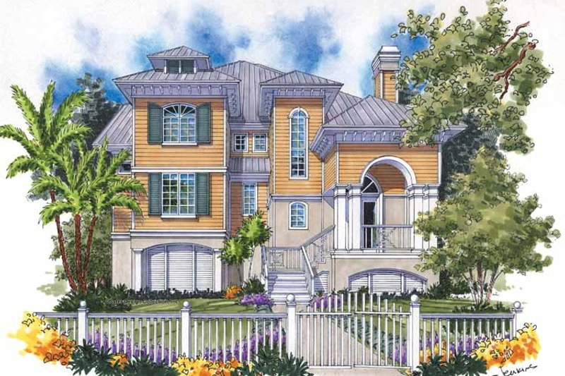 Mediterranean Exterior - Front Elevation Plan #930-128