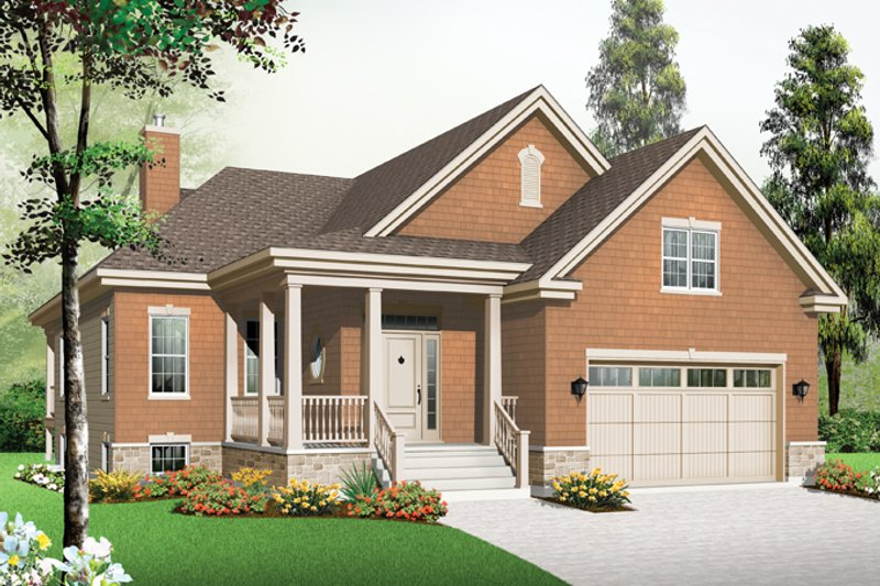 Country Exterior - Front Elevation Plan #23-2573