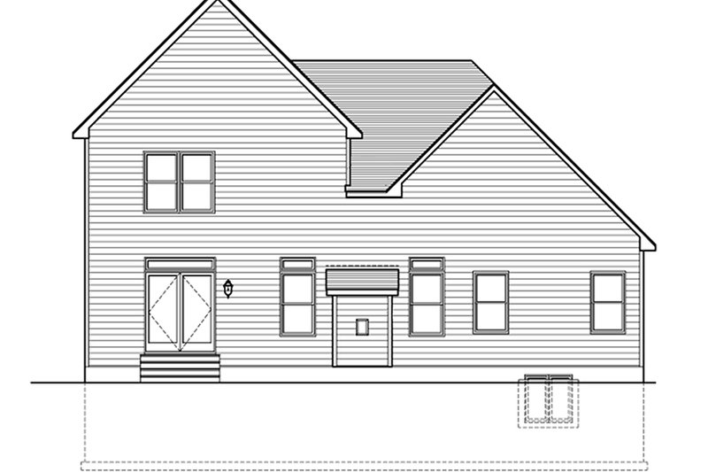 Traditional Exterior - Rear Elevation Plan #1010-149 - Houseplans.com