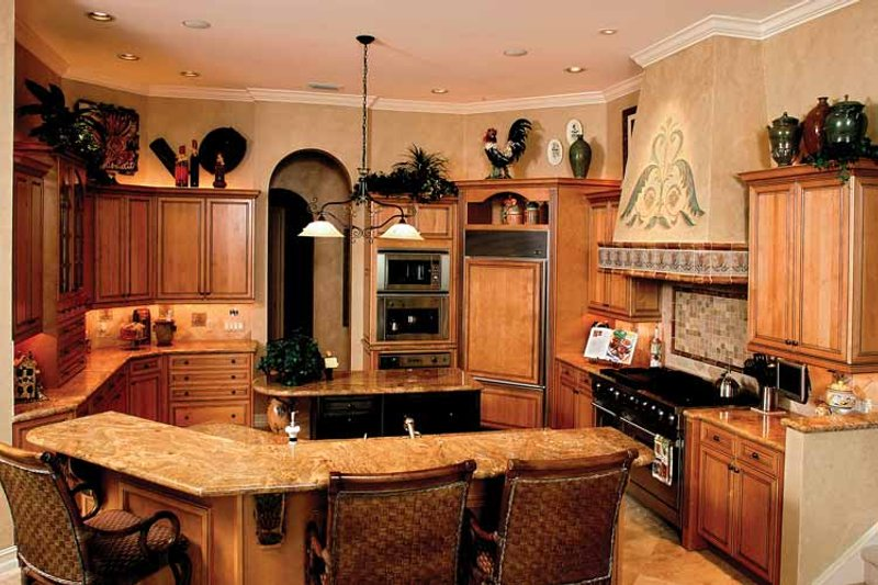 Mediterranean Interior - Kitchen Plan #1017-2 - Houseplans.com