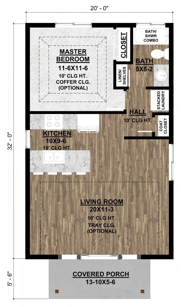 Dream House Plan - Cottage Floor Plan - Main Floor Plan #1077-7