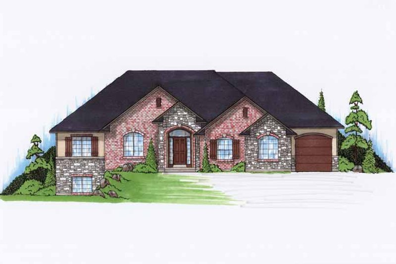 Traditional Exterior - Front Elevation Plan #945-91