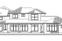House Plan Design - Mediterranean Exterior - Rear Elevation Plan #120-218