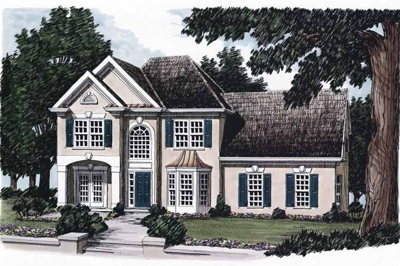 Mediterranean Exterior - Front Elevation Plan #927-69