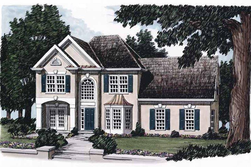 House Plan Design - Mediterranean Exterior - Front Elevation Plan #927-69