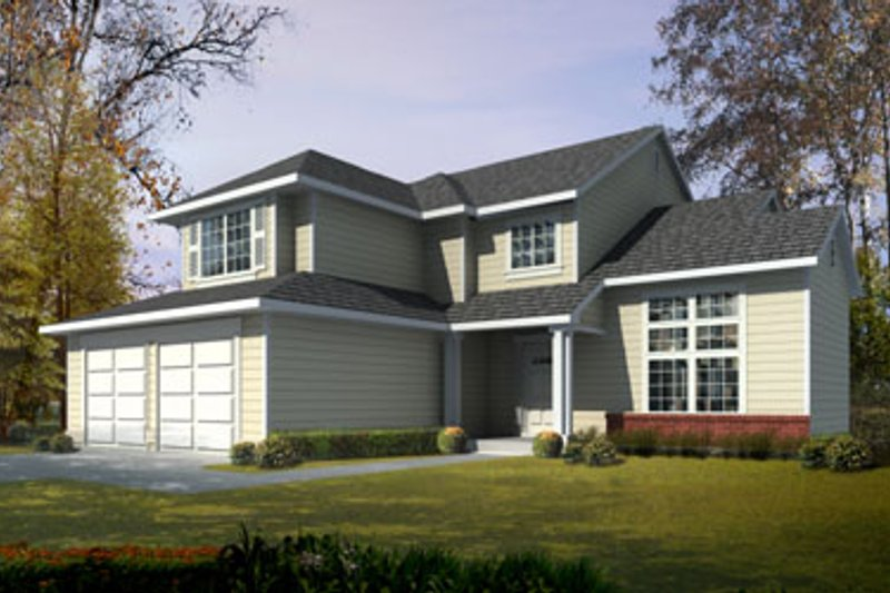 Traditional Style House Plan - 3 Beds 2.5 Baths 1880 Sq/Ft Plan #100-448 Exterior - Front Elevation