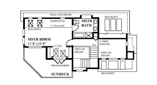 Cabin Floor Plan - Upper Floor Plan Plan #118-171