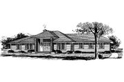 Ranch Style House Plan - 3 Beds 2 Baths 1727 Sq/Ft Plan #315-106 Exterior - Front Elevation
