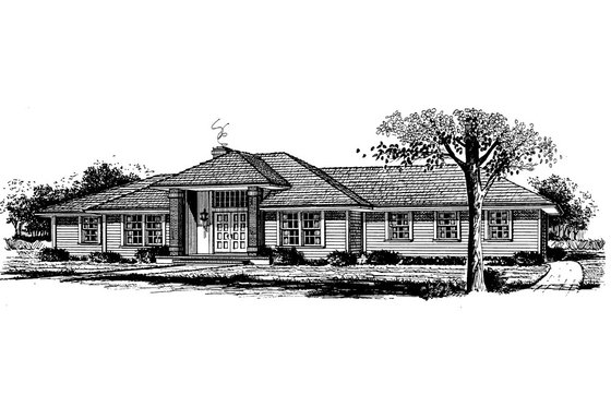 Ranch Exterior - Front Elevation Plan #315-106