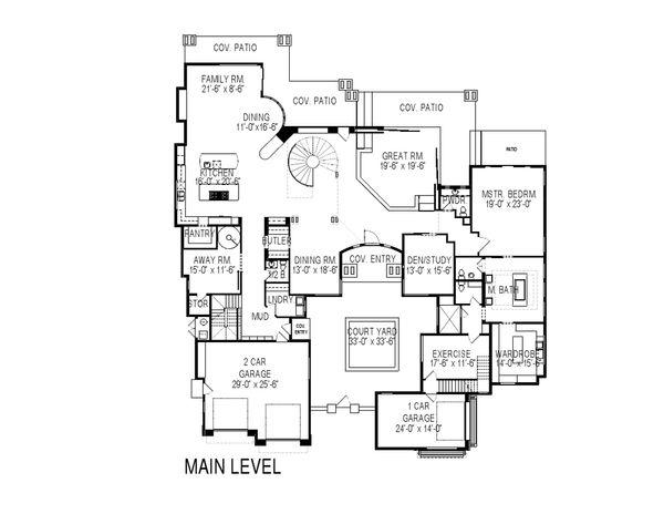 Dream House Plan - Modern Floor Plan - Main Floor Plan #920-71