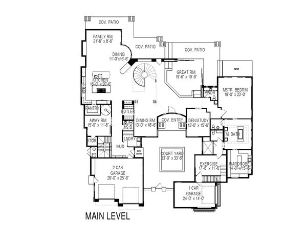 Modern Floor Plan - Main Floor Plan Plan #920-71