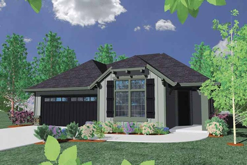 Country Exterior - Front Elevation Plan #509-258 - Houseplans.com